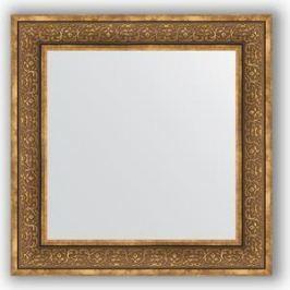 Зеркало в багетной раме Evoform Definite 73x73 см, вензель бронзовый 101 мм (BY 3159)
