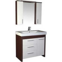 Комплект мебели Aquanet Тиана 90 У с б/к цвет венге (фасад белый)