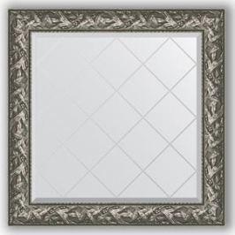 Зеркало с гравировкой Evoform Exclusive-G 89x89 см, в багетной раме - византия серебро 99 мм (BY 4329)