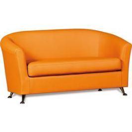 Диван СМК Бонн 040 2х к/з Санторини 0432 оранжевый