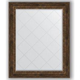 Зеркало с гравировкой поворотное Evoform Exclusive-G 102x127 см, в багетной раме - состаренное дерево с орнаментом 120 мм (BY 4387)