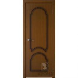 Дверь VERDA Соната глухая фрезерованная 2000х600 шпон Орех