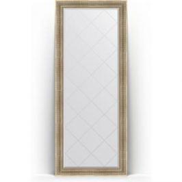 Зеркало напольное с гравировкой поворотное Evoform Exclusive-G Floor 82x202 см, в багетной раме - серебряный акведук 93 мм (BY 6321)