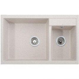 Кухонная мойка Kaiser Granit 80x50x19 песочный мрамор Sand Beige (KG2M-8050-SB)