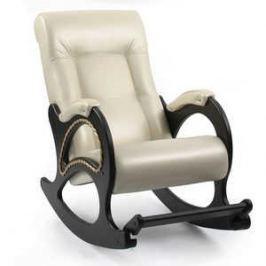 Кресло-качалка Мебель Импэкс МИ Модель 44 каркас венге с лозой,обивка Орегон перламутр 106