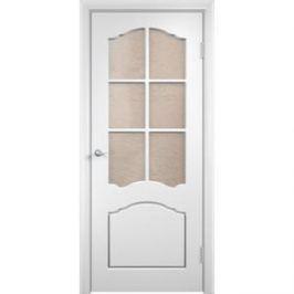 Дверь VERDA Лидия остекленная 1900х600 ПВХ Белый