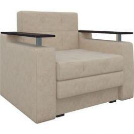 Кресло-кровать АртМебель Комфорт микровельвет бежевый