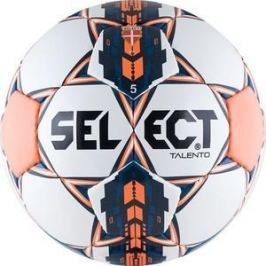 Мяч футбольный Select Talento (811008-006), цвет бел-оранж-сереб-сал