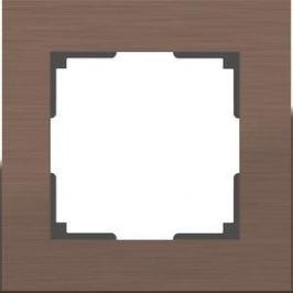 Рамка Werkel Aluminium алюминий коричневый WL11-Frame-01