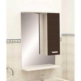 Зеркальный шкаф Меркана Таис 60 см шкаф справа свет выкл розетка черный каннелюр (25551)