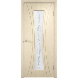 Дверь VERDA Богемия остекленная 2000х900 ПВХ Дуб белёный