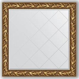 Зеркало с гравировкой Evoform Exclusive-G 109x109 см, в багетной раме - византия золото 99 мм (BY 4457)