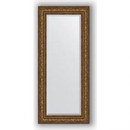 Зеркало с фацетом в багетной раме поворотное Evoform Exclusive 65x150 см, виньетка состаренная бронза 109 мм (BY 3557)