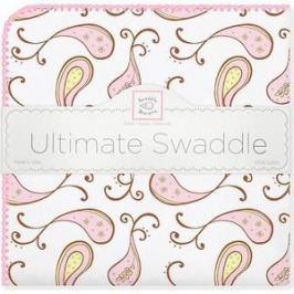 Фланелевая пеленка SwaddleDesigns для новорожденного Pink Paisley (SD-120PP)