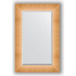 Зеркало с фацетом в багетной раме поворотное Evoform Exclusive 56x86 см, травленое золото 87 мм (BY 1141)