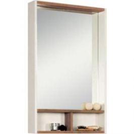 Зеркало с полочками Акватон Йорк 55 белый глянец/дуб сонома (1A173202YOAD0)