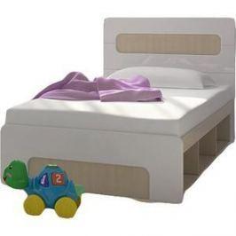 Кровать Стиль Палермо юниор с подъемным механизмом, ясень шимо светлый/глянцевый белый 90х200