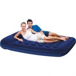 Кровать флокированная Bestway 203х152х22см (синяя), встр.насос (67226N/67226)