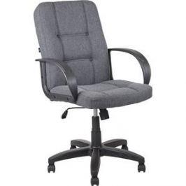 Кресло Алвест AV 211 PL (727)МК ткань 415 серая с черной ниткой