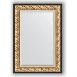 Зеркало с фацетом в багетной раме поворотное Evoform Exclusive 70x100 см, барокко золото 106 мм (BY 1281)