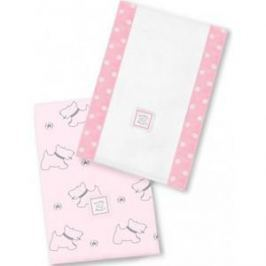 Полотенчики SwaddleDesigns Baby Burpie Set Pink Gray Doggie (SD-611P)