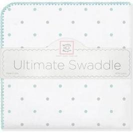 Фланелевая пеленка SwaddleDesigns для новорожденного SC/Sterling Lt Dot (SD-412SC)