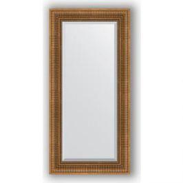 Зеркало с фацетом в багетной раме поворотное Evoform Exclusive 57x117 см, бронзовый акведук 93 мм (BY 3492)
