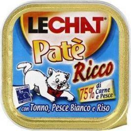 Консервы Lechat Cat Pate Tuna, Ocean Fish and Rice с тунцом, океанической рыбой и рисом паштет для кошек 100г