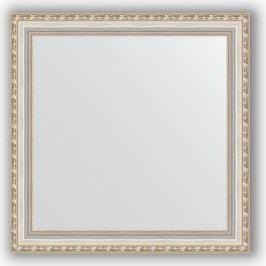 Зеркало в багетной раме Evoform Definite 65x65 см, версаль серебро 64 мм (BY 3142)