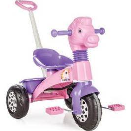 Трехколесный велосипед Pilsan Pony Bike с родительской ручкой цвет розово-фиолетовый (07-139)