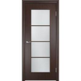 Дверь VERDA Тип С-8(о) остекленная 2000х800 МДФ финиш-пленка Венге
