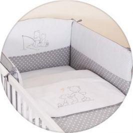 Постельное белье Ceba Baby 3 пр. Papa Bear grey вышивка W-801-004-260