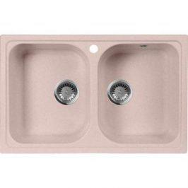 Кухонная мойка AquaGranitEx M-15 775х495 розовый (M-15 (315))