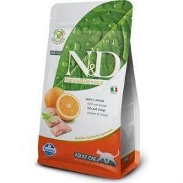 Сухой корм Farmina N&D Adult Cat GF Fish & Orange беззерновой с рыбой и апельсином для кошек 1,5кг (21052)