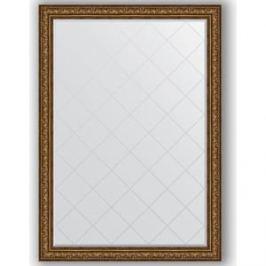 Зеркало с гравировкой поворотное Evoform Exclusive-G 135x190 см, в багетной раме - виньетка состаренная бронза 109 мм (BY 4513)