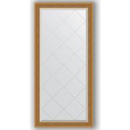 Зеркало с гравировкой поворотное Evoform Exclusive-G 73x155 см, в багетной раме - состаренное золото с плетением 70 мм (BY 4260)