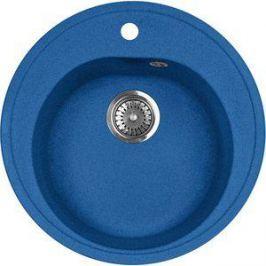 Кухонная мойка AquaGranitEx M-08 505х505 синий (M-08 (323))