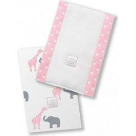 Полотенчики SwaddleDesigns Baby Burpie Set Pink Elephant & Giraffe (SD-457P)