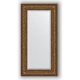Зеркало с фацетом в багетной раме поворотное Evoform Exclusive 60x120 см, виньетка состаренная бронза 109 мм (BY 3505)