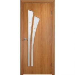 Дверь VERDA Тип С-7(Ф) остекленная 1900х600 МДФ финиш-пленка Миланский орех