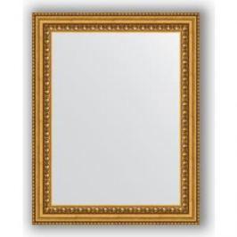 Зеркало в багетной раме Evoform Definite 38x48 см, бусы золотые 46 мм (BY 1344)
