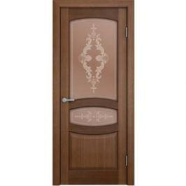 Дверь VERDA Сиена остекленная 2000х600 шпон Орех