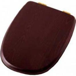 Сиденье для унитаза Cezares King Palace деревянное орех микролифт фурнитура золото (CZR-163-W-S-G)