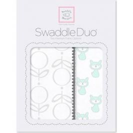 Набор пеленок SwaddleDesigns Swaddle Duo SeaCrystal Little Fox