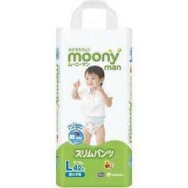 Трусики Moony для мальчиков 9-14 кг 42(44) шт (L) 4903111183418
