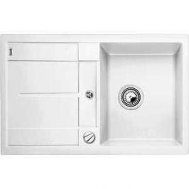 Мойка кухонная Blanco Metra 45 s белый с клапаном-автоматом (513028)