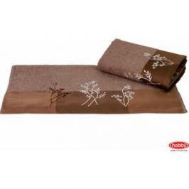 Полотенце Hobby home collection Flora 70x140 см коричневый (1501001064)