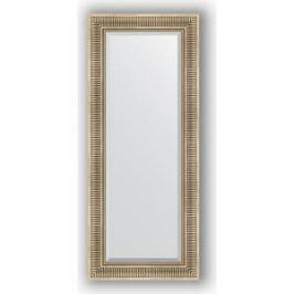 Зеркало с фацетом в багетной раме поворотное Evoform Exclusive 57x137 см, серебряный акведук 93 мм (BY 1258)