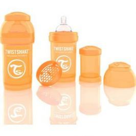 Twistshake Антиколиковая бутылочка для кормления 180 мл. Оранжевая (780003)