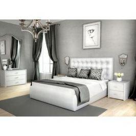 Кровать Lonax Аврора с основанием экокожа albert white (140x190 см)